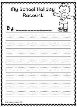 Holiday Recount Writing Templates