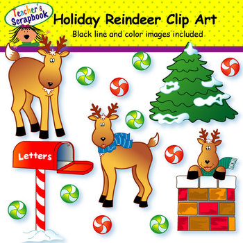 Holiday Reindeer Clip Art
