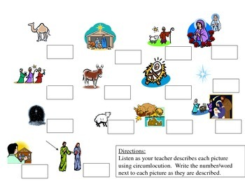 Holiday Religious Vocabulary Activities