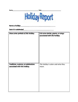Holiday Report