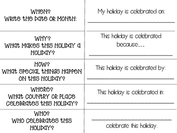 Holiday Research Foldable