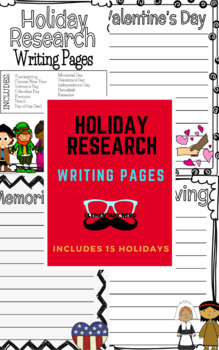 Holiday Research Writing Pages
