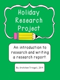 Holiday Research and Writing Project