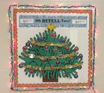 Holiday Retell Tree Bulletin Board