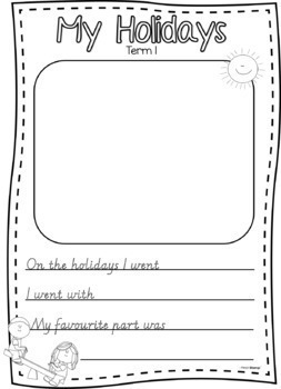 Holiday Retell/Recount - Writing Template