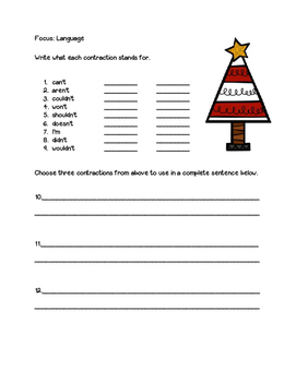 Holiday Review Packet