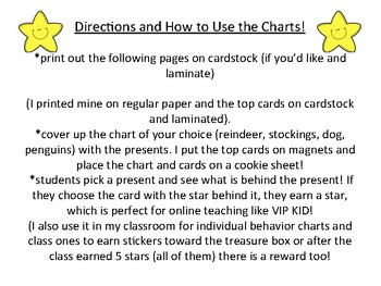 Holiday Reward Chart-Find the hidden stars! Perfect for online teaching