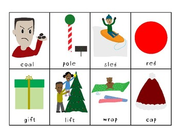 Holiday Rhyme Matching Game