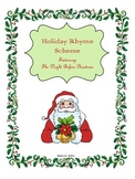 Holiday Rhyme Scheme Practice