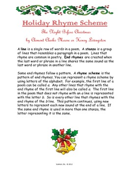 Holiday Rhyme Scheme Practice