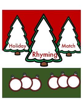 Holiday Rhyming Match