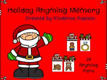 Holiday Rhyming Memory