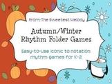 Autumn and Winter Rhythm Folder Games