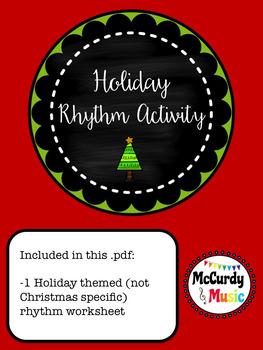 Holiday Rhythm Worksheet - Ready to print!