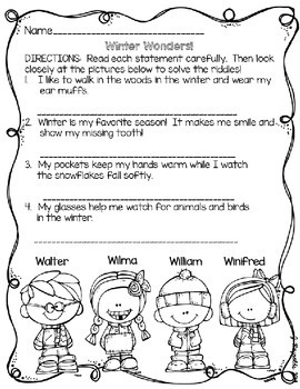 Holiday Riddle Booklet--Literacy and Logic Activities {Unwrap A Gift Freebie}