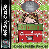Holiday Riddle Booklet--Literacy and Logic Activities {FREEBIE}