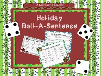 Holiday Roll-A-Sentence Writing Center