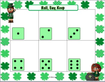 Holiday Roll, Say, Keep Game Boards and Editable Cards