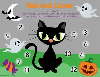 Holiday Roll and Cover game boards