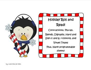 Holiday Roll and Read Vocabulary and Phonics