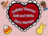 Holiday Roll and Write Suggestions and Blank Templates