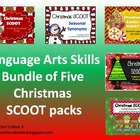 Christmas SCOOT Bundle of Five Language Arts Packs