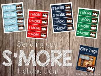 Holiday S'MORE Gift Tags~ Freebie