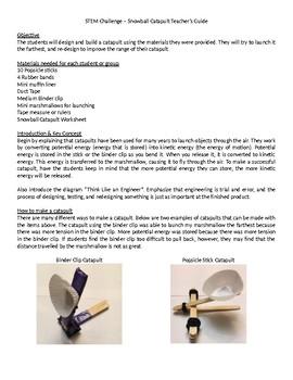 Winter STEM Challenge - Snowball Catapult