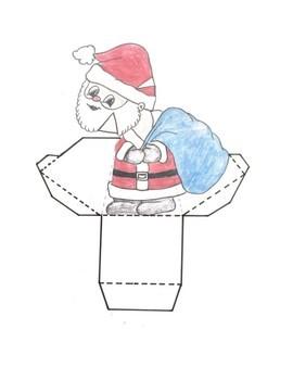 Holiday STEM - Santa Optical Illusion