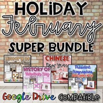 Holiday SUPER Bundle for February {Digital AND Paper}