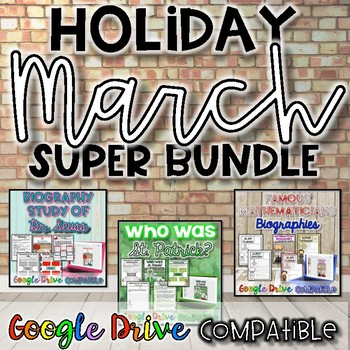 Holiday SUPER Bundle for March {Digital AND Paper}