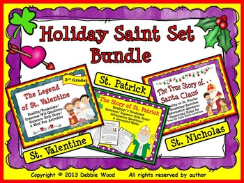 Holiday Saint Set Bundle:  St. Valentine, St. Patrick & St. Nicholas