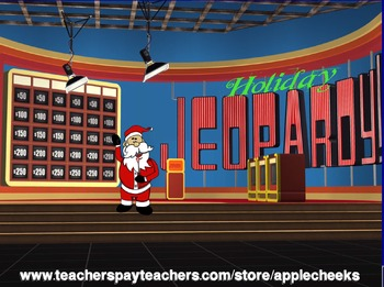 Holiday Santa Jeopardy Game   Amazing  Best Game Yet!!! Colorful, Humorous