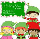 Holiday Santa's Elves Clip Art