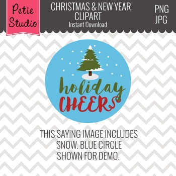 Holiday Sayings Clipart // New Year Clipart // Christmas Clipart - Winter109