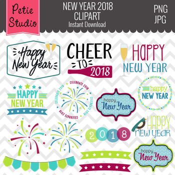 Holiday Sayings Clipart // New Year Clipart // 2016 Clipart - Winter117