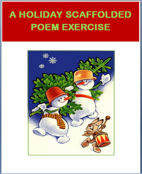 Holiday- Scaffolded Poem Activity and Art Project