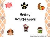 Holiday Scattegories - Speech and Language Therapy