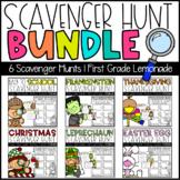 Holiday Scavenger Hunt Bundle   Editable