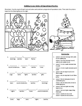 Holiday Scene Order of Operations Practice