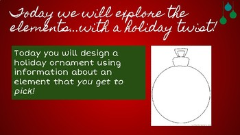Holiday Science - Periodic Table of Elements Ornament Activity