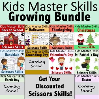Holiday Scissors Skills Activities Bundle