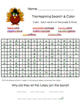 Holiday Search and Color
