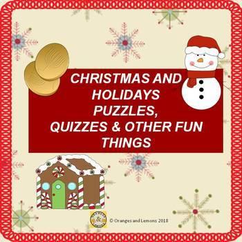 Holiday Season (Christmas, Hanukkah, Kwanzaa) Activity Fun Pack