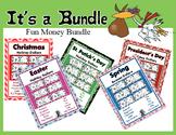 Holiday & Season Fun Money Dollar Bundle ~ 13 Sets ~ Teach Money Use for Rewards