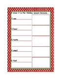 Holiday Season Sensory Writing Template