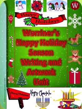 Holiday Season--Winter: Warriner's Happy Holiday Season Writing and Artwork Unit