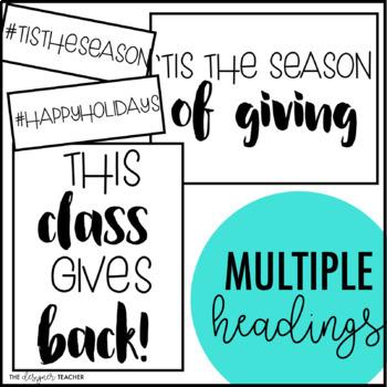 Season of Giving Winter Holiday Bulletin Board Kit