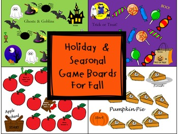 Holiday & Seasonal Game Boards for Fall