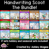 Holiday & Seasonal Handwriting Scoot and Write the Room Bundle